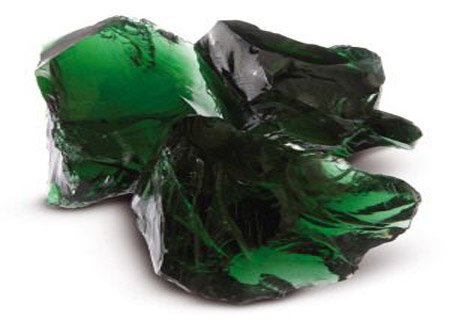 Зеленое кусковое стекло